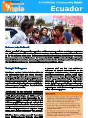 Infoblatt Community Radio Ecuador
