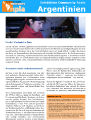 Infoblatt Community Radio argentinien