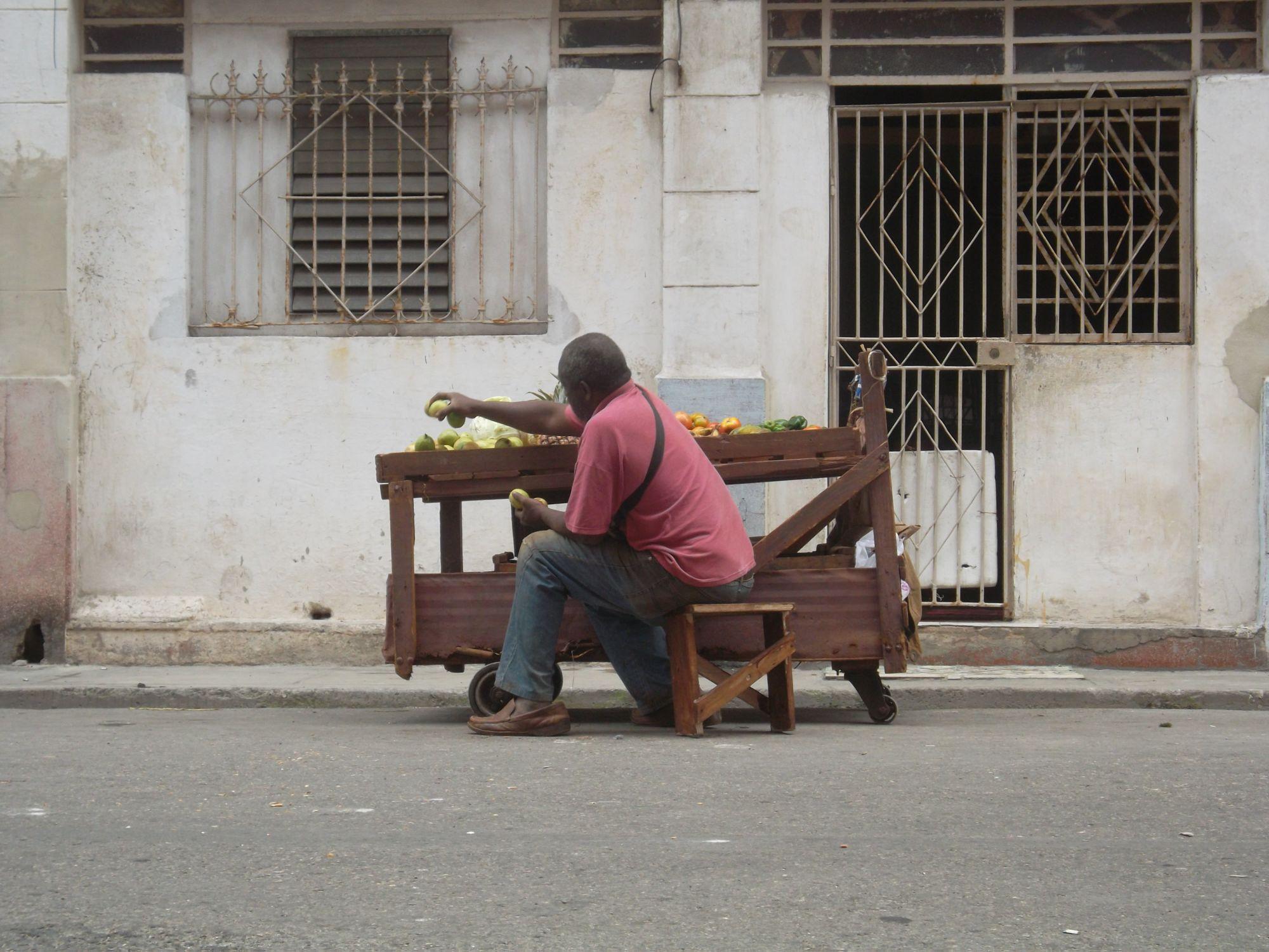 Zu verkaufen gibts immer noch nicht viel. Foto: D. Ossami
