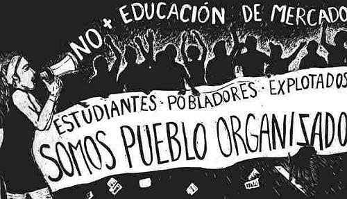 Bildungsproteste Grafik: anarkismo.net /Bildquelle: adital