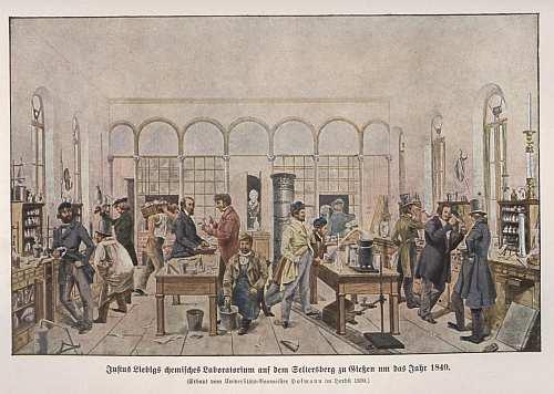 Justus von Liebigs Labor 1840 in Gießen, wikipedia