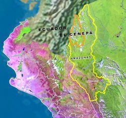 Amazonas Karte Cenepa / Foto: ideele revista