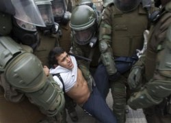 Repression in Chile. Foto: Púlsar/El Argentino