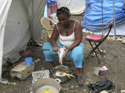 Camp in Haiti /digital democracy, flickr
