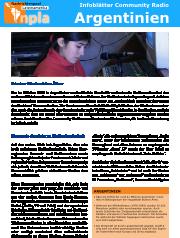 Infoblatt Community Radios Argentinien