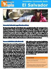 Infoblatt Community Radios El Salvador