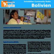 Titel Infoblatt Community Radios Bolivien