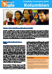 Infoblatt Community Radios Kolumbien