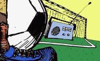 radio vs. futebol. Grafik: Amarc Brasil