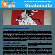 Titel Infoblatt Community Radios Guatemala