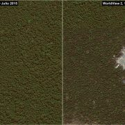 Satellitenbilder zeigen Entstehung eines illegalen Bergbaugebietes