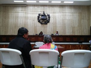 Bild vom Prozess iin Guatemala. Foto: Cerigua