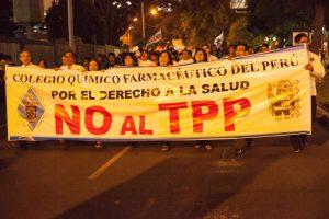 Die dritte Demonstration in der peruanischen Hauptstadt Lima gegen den TPP am 22. Januar 2016. Foto: Servindi