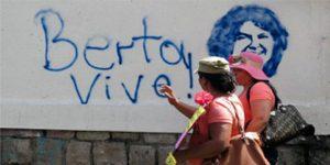 Graffiti mit COPINH-Aktivistin Berta Cáceres