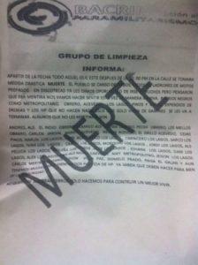 Den Ermordungen war die Ankündigung in Form von Flugblättern vorangegangen. Foto: Amerika21/radiomacondo.fm