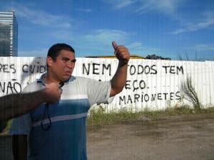 Auch Márcio Enrique leistet noch Widerstand. Foto: Vanessa Cruz