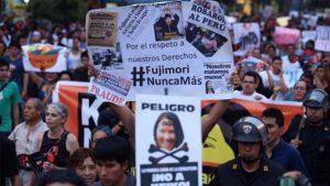 Ein möglicher Wahlsieg Fujimoris sorgt jetzt schon für Proteste in Peru. Foto: Servindi/E. Arias