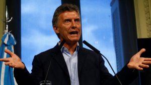 Mauricio Macri auf einer Pressekonferenz in der Casa Rosada in Buenos Aires. Foto: Telesur
