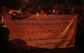 Demo der Angehörigen von Jairo Mora. Foto: Markus Plate