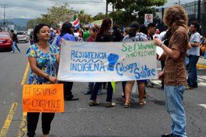 Protestdemonstration am Präsidentenpalast in der Hauptstadt / Foto: Voces Nuestras