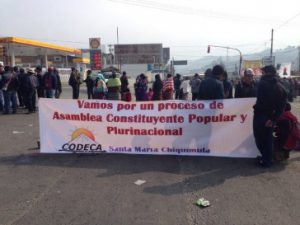Guatemala_Blockade am Knotenpunkt Cuatro Caminos-Totonicapan, Bildquelle: Facebook.com
