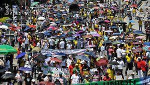 Agrarstreik: Zehntausende Menschen beteiligen sich an den Protestaktionen. Foto: Telesur