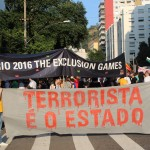 "Protest gegen die ""Exclusion Games"". Foto: Dilly Justino/Pulsar Brasil"