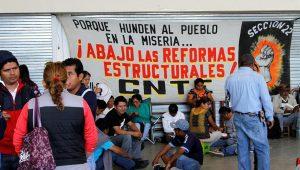 Die Lehrkräfte des CNTE fordern eine Rücknahme der Bildungsreform. Foto: Telesur
