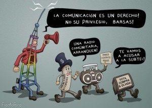 Kampagne gegen die Kriminalisierung von Community-Radios / Abbildung: ECO