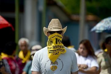 Protest gegen den Bergbau in El Salvador. Foto: Amerika21/contrapunto.com.sv