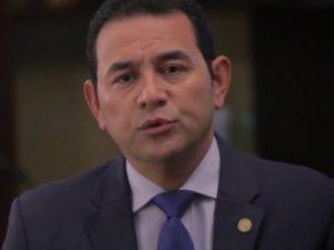 Der Präsident Guatemalas, Jimmy Morales. Foto: Cerigua