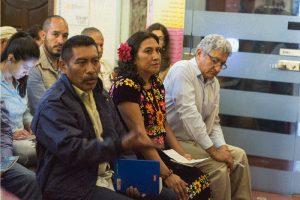 María Isabel Jiménez Salinas, Zapotekin aus Oaxaca, bei ihrer Anhörung durch die UN-Arbeitsgruppe. Foto: cimac/Greta Gómez Rico