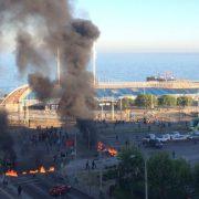 """Valparaíso: Fischer*innen protestierten mit Barrikaden gegen """"Longueira-Gesetz"""""""