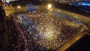 Demonstration für den Frieden.