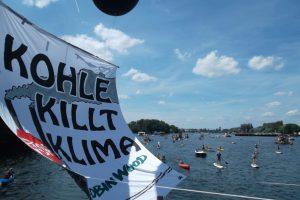 Protestaktion gegen das Kohlekraftwerk Klingenberg in Berlin, Juli 2016. Foto: D. Ossami