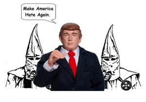 The Klan backs Trump. Karikatur: Flickr/Mike Licht (CC BY 2.0)