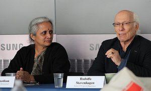 Rodolfo Stavenhagen 2014 bei einer Konferenz der Rosa-Luxemburg-Stiftung in New York / Foto: RLS, CC-BY-NC-SA-2.0