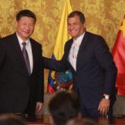 Die Präsidenten von China, Xi Jinping und Ecuador, Rafael Correa Foto: Carlos Rodríguez/Andes
