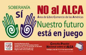 Protestplakat gegen Freihandel