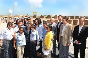 Präsidentin Rousseff am Wasserkraftwerk