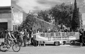 Protestkundgebung gegen die Räumung von La Solidaria