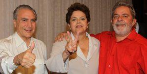 Temer, Rousseff und Lula da Silva