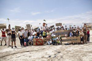 Break Free Ecuador: YASunidos besetzen eine Straße, um für die Nicht-Ausbeutung der Ölreserven zu demonstrieren. Quelle: YASunidos