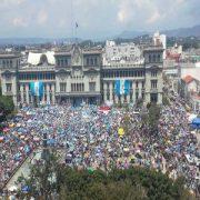 Großkundgebung in Guatemala-Stadt