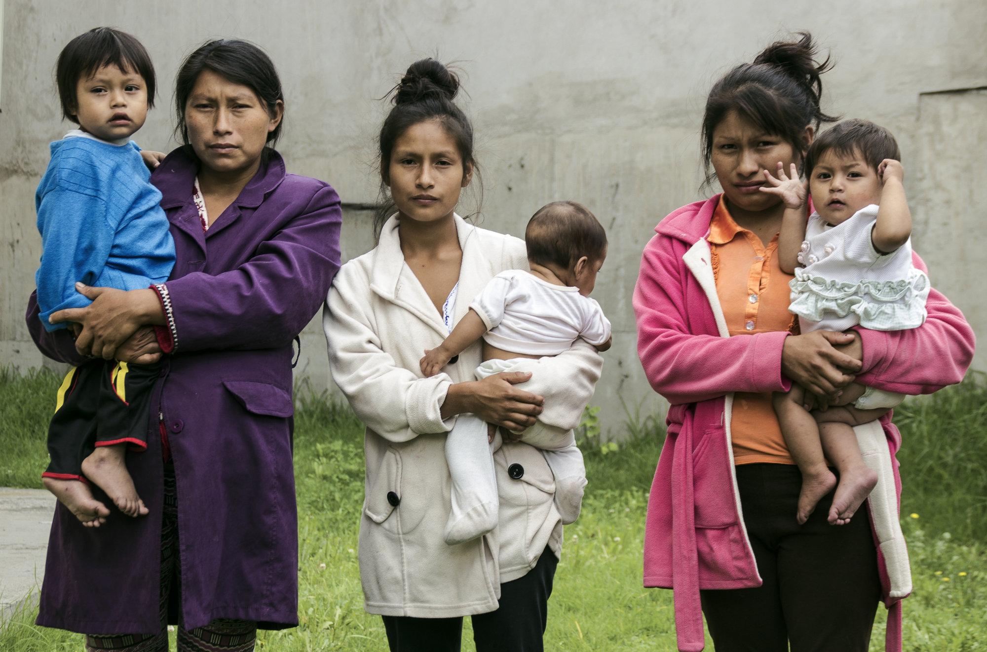 Shuar Familien