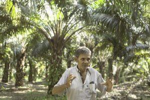 José Baldovinos Farias, Kleinbauer aus dem Ejido Boca Chajul, zeigt seine Plantage, die, wie er sagt, für seinen Verdienst vorteilhaft sei. Davor hatte er es schon mit Viehwirtschaft und Anbau von anderen Produkten versucht. - Foto: Moysés Zúñiga Santiago, Moncaby/desinformemonos