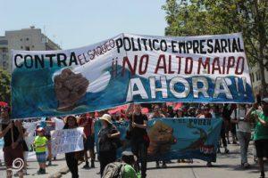 ¡No Alto Maipo! Proteste gegen das Mega-Wasserkraftwerk in Chile.