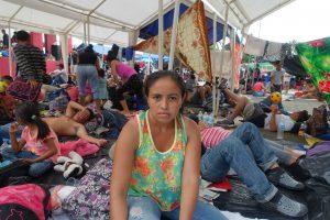 Honduranerin bei Zwischenstop in Huixtla - Foto Wolf-Dieter Vogel