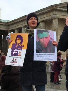 3. Jahrestag des Mordes an Berta Caceres. Gedenken in Berlin