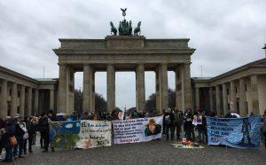 Kundgebung Berlin in Erinnerung an Berta Caceres